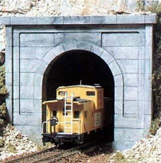C1252 Woodland Scenics HO Scale Concrete Portal Single Track(1 each) Tunnel Portal