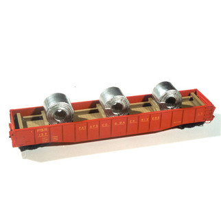 7235 HO Scale Chooch Enterprises Coil Steel Load-Gondola