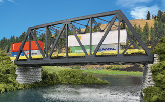 933-4510 HO Scale Walthers Cornerstone Modernized Double-Track Truss Bridge Kit