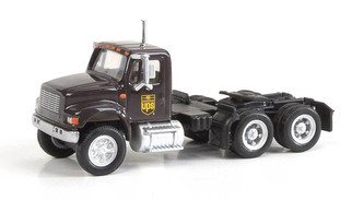 949-11184 HO Scale Walthers SceneMaster International 4900 Dual Axle Semi Tractor-UPS (Bow-Tie Scheme)