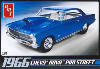 AMT636 AMT 1966 Chevy Nova Pro Street 1/25 Scale Plastic Model Kit