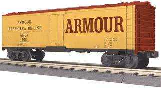 30-78195 O Scale MTH RailKing Modern Reefer Car-Armour
