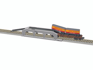 6-47983 S Scale A/F Piggyback Unloader w/UP Flat & Trailers