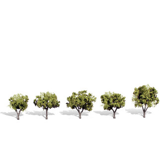"TR3546 N, HO, O Scale Woodland Scenics Classics Tree, Early Light 1 1/4""- 2"" (5)"