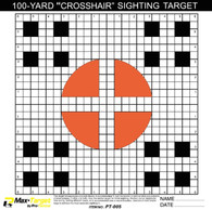 crosshair sighting in paper shooting target