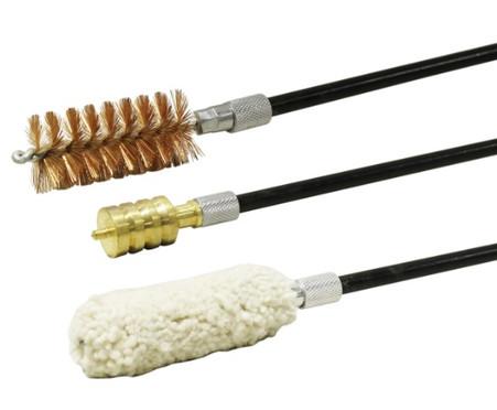 3 piece gun cleaning brush set shotgun 12 gauge