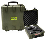 Cyclone Extra Long Pistol Hard Case - Green