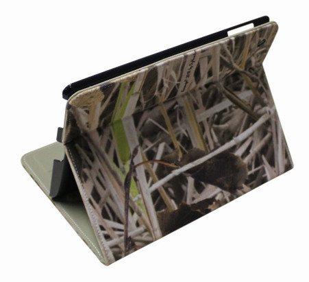 camo fleece iPad case 3 4 koorangie standing