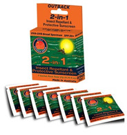 outback series sunscreen SP30+ insect repellant sachet