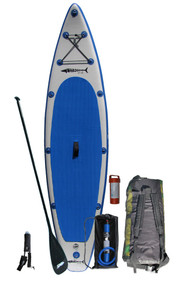 The GT126 comes complete with the board, fin, carbon fiber adjustable SUP paddle, Bravo dual action HD Manual Inflation pump, back pack, ankle leash and patch kit.  Life jackets sold separately.