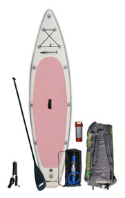 Offering a new option for customers looking for a board that performs well, looks great and only weighs 20 pounds.  This board is designed like all the other GT126 models except it is constructed with new lighter material that can be inflated to 15 PSI.  Consistent with the light theme, this board package includes a Wakooda Carbon Fiber Adjustable SUP Paddle.