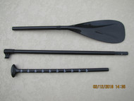 100% Carbon Fiber 3-Piece SUP Paddle with Grooved System