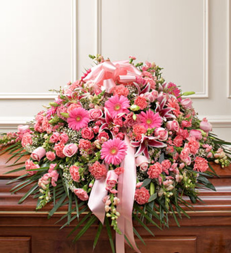 Pink Memories Casket Spray