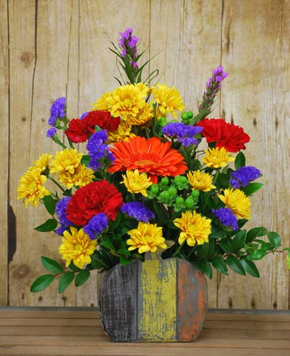 pumpkin festive fall arrangement available for local delivery