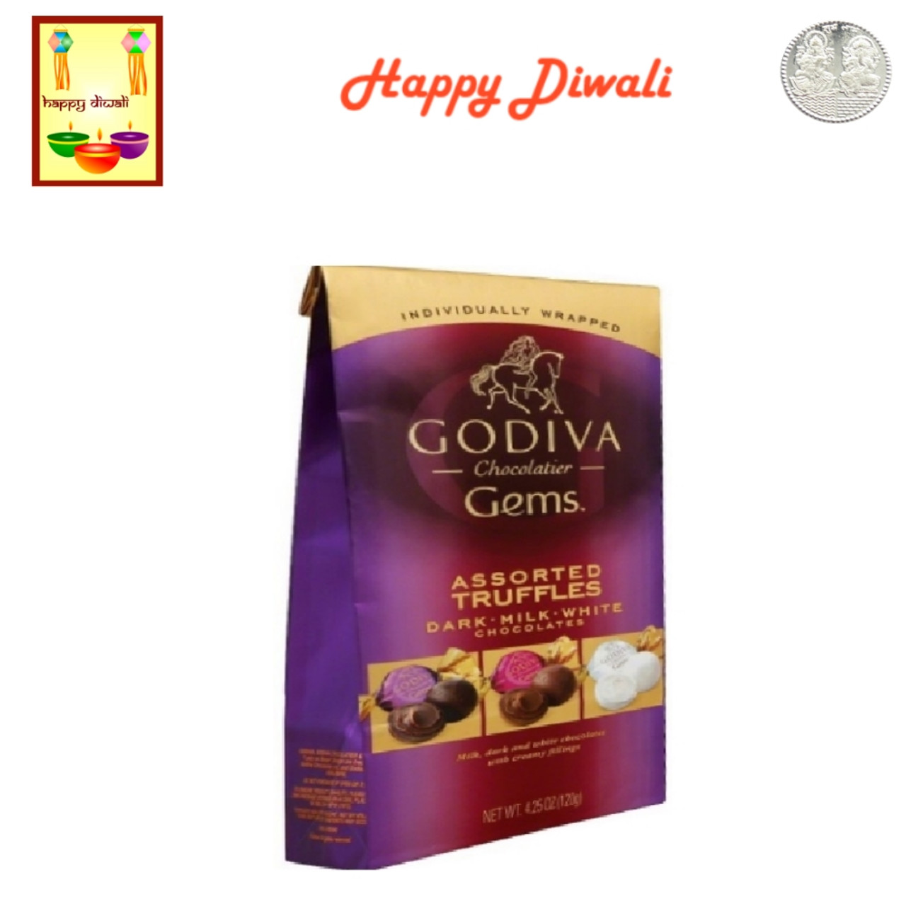 Chocolates- Godiva Assorted Classic Truffles with Diwali Greeting Card