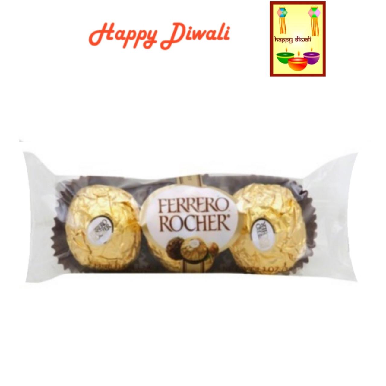 Diwali Chocolates- Ferrero Rocher Chocolates with Diwali Greeting Card