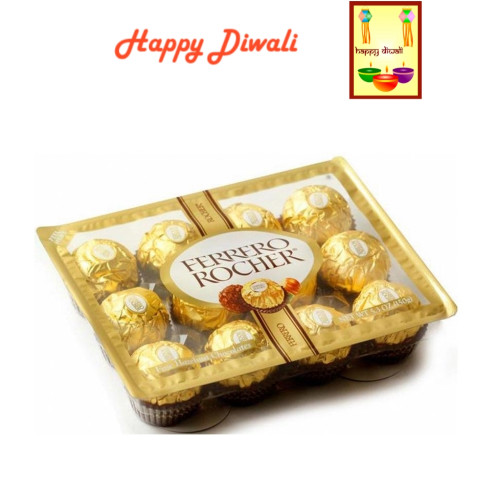 Diwali  Chocolates- Ferrero Rocher Chocolates with Diwali Greeting Card