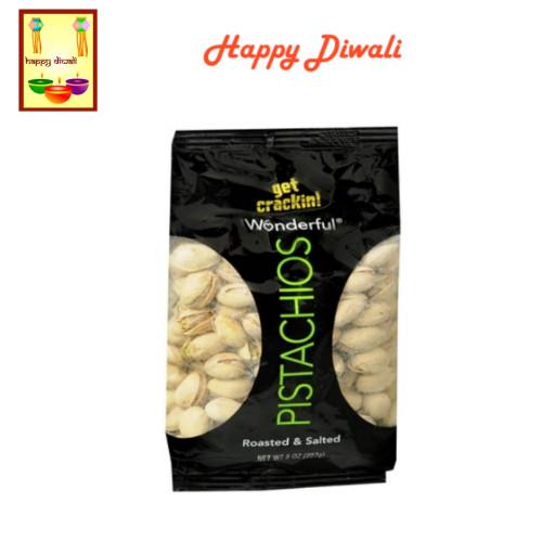 Diwali  Dry Fruits - Pistachios with Diwali Greeting Card