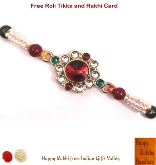 Exquisite Kundan Rakhi