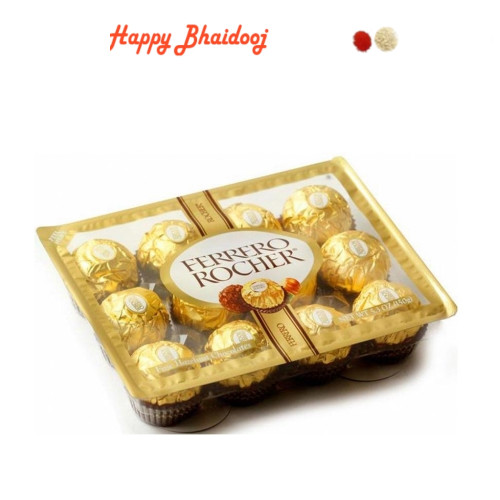 Bhaidooj  Chocolates- Ferrero Rocher Chocolates (12pc) with Roli Tika