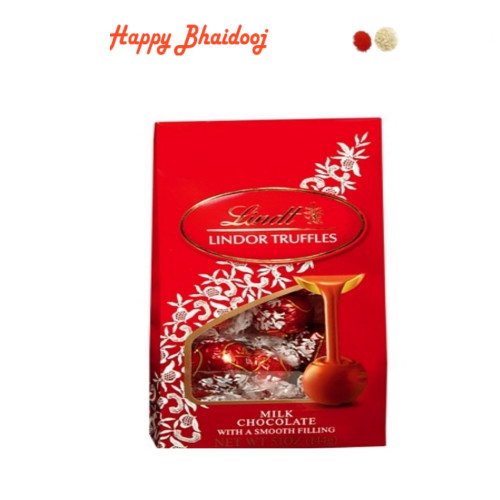 Bhaidooj Chocolates - Lindt Lindor Chocolates with Roli Tika