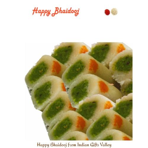 Bhaidooj  Sweets- Kaju Roll with Roli Tika