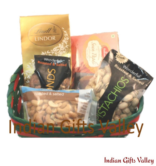 Gift Hamper - Soan Papdi, Dry Fruits and Chocolates
