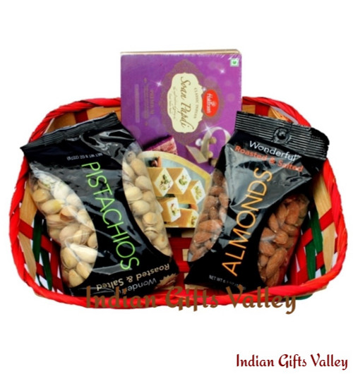 Gift Hamper - Soan Papdi, Almonds and Pistachios