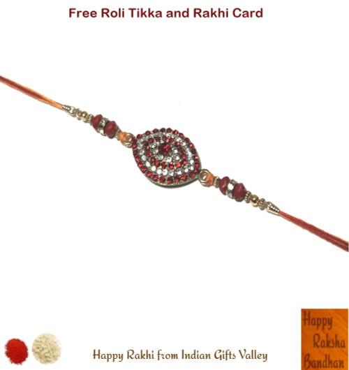 Beautiful Crystal Beads Rakhi