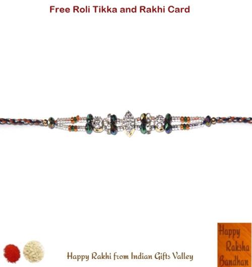 Exclusive American Diamond Rakhi