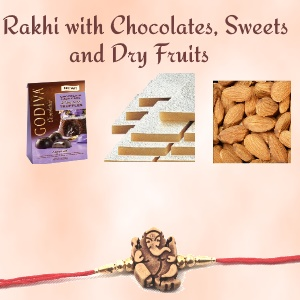 Rakhi with Chocolates, Dry Fruits and Sweets to USA