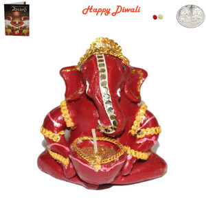 Beautiful Earthen Ganesh Diya