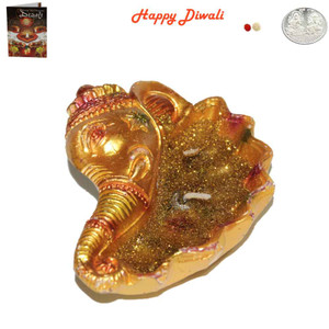 Beautiful Earthen Ganesh Deep