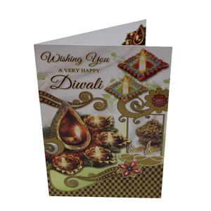 Diwali / Deepavali Festival Indian Greeting Card - Diwali Wishes