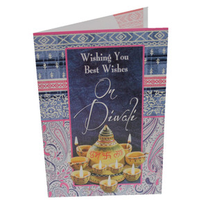 Diwali / Deepavali Festival Indian Greeting Card - Best Wishes