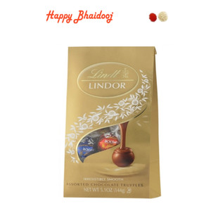 Bhaidooj Chocolates - Lindt Assorted Chocolates with Roli Tika