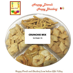 Diwali / Bhaidooj Namkeen- Crunchie Mix with Diwali Card and Roli Tika
