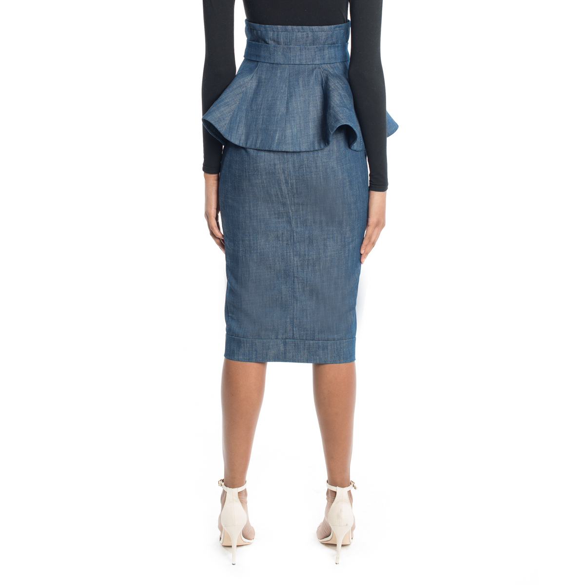 Cleopatra Peplum Pencil Skirt