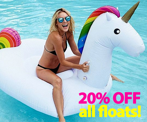 FUNNY POOL FLOATS + RAFTS
