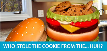 CHEESEBURGER COOKIE JAR
