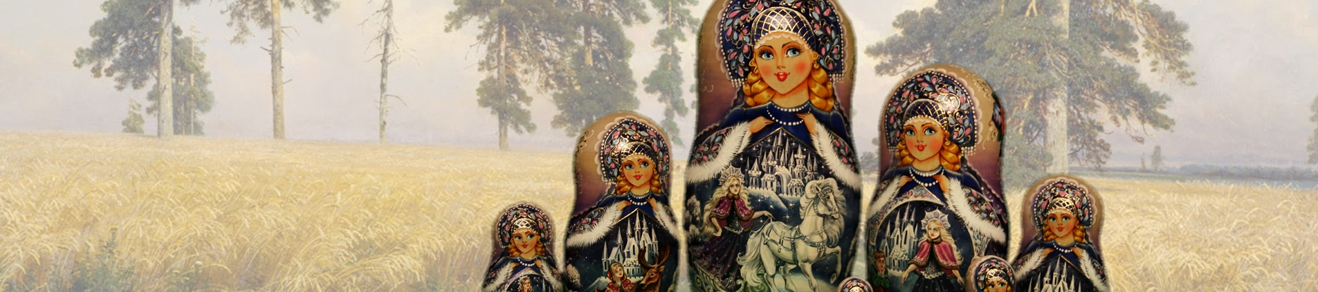 Exclusive Russian nesting dolls signed by the artists