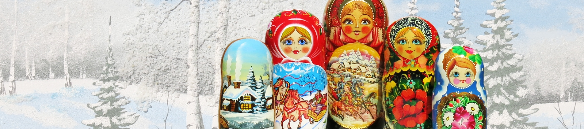 Russian nesting dolls and Russian gifts