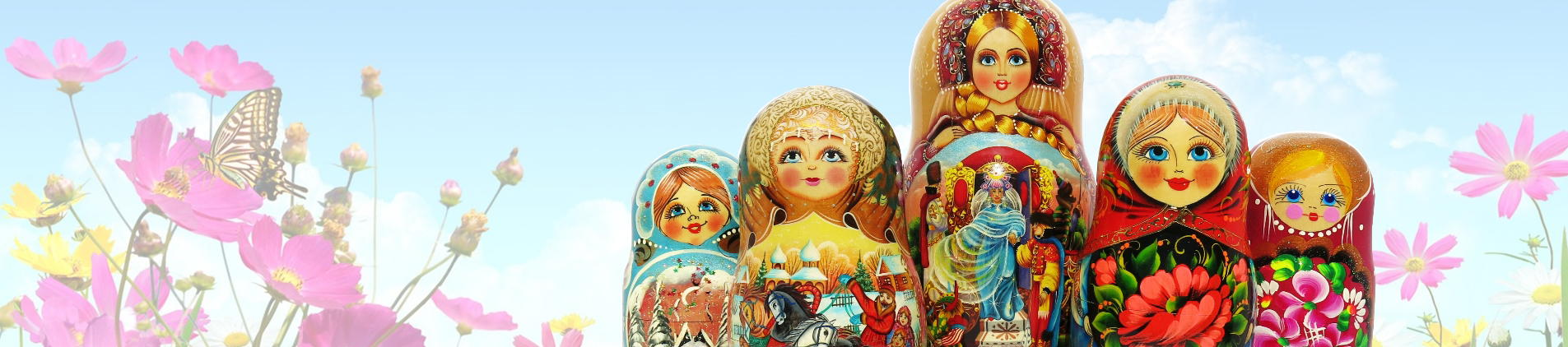 Russian babushka nesting dolls for sale