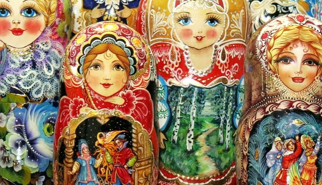 Nesting dolls and Russian gifts