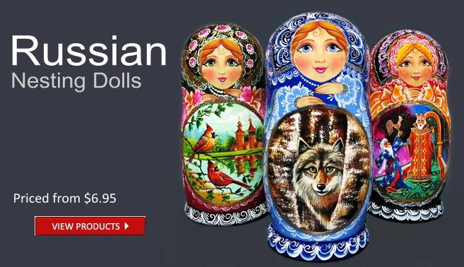 Handmade Russian Nesting Matryshka Dolls