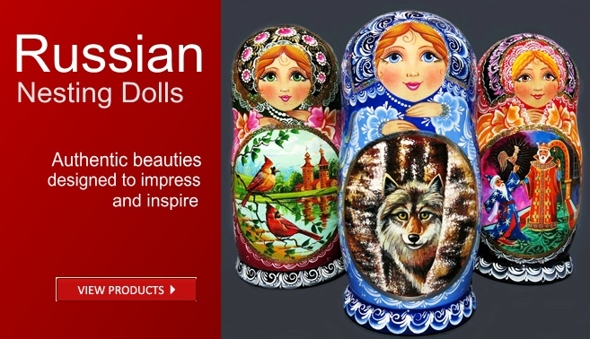 Russian babushka nesting dolls for sale