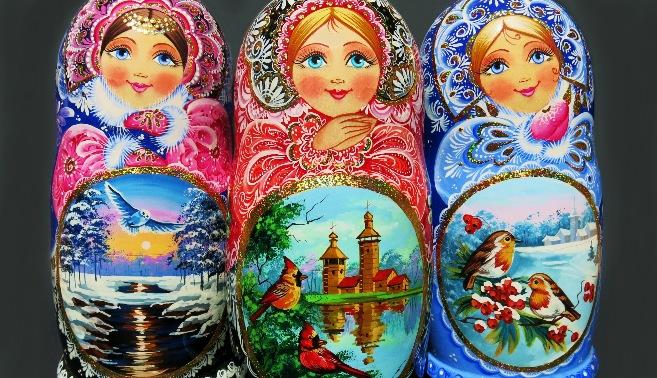 Handmade Russian Nesting Matryoshka Dolls