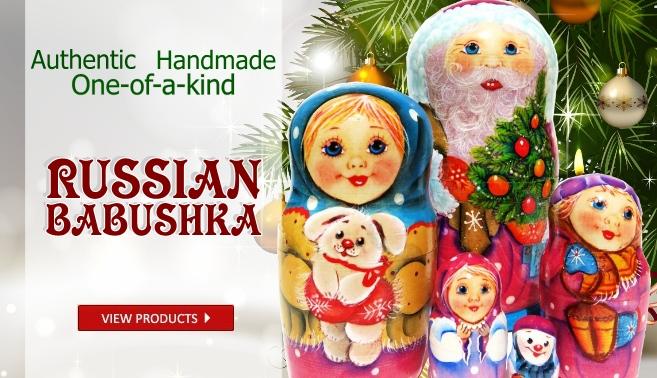 Russian hand painted babushka nesting dolls