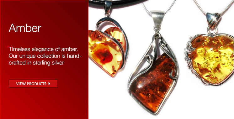 Baltic Amber Jewelry, Pendants and Earrings