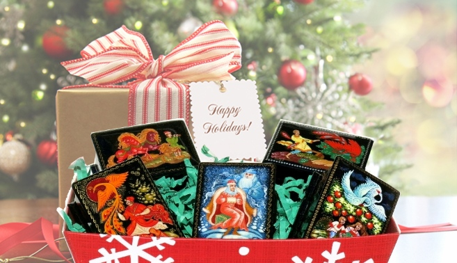 Hand Painted Keepsake Russian Lacquer Boxes